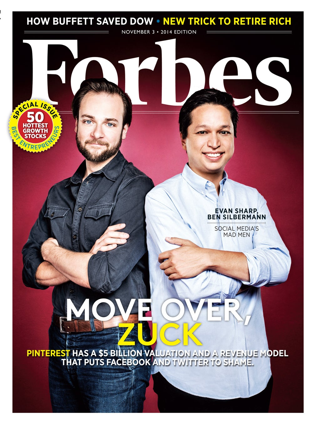 Forbes-Cover / November 2014 / Evan Sharp und Ben Silbermann / Foto von Jamel Toppin