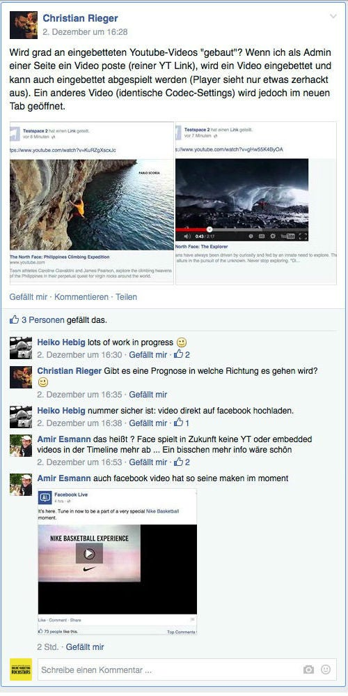 "Eine Diskussion aus der Gruppe ""Facebook Developers Germany"""