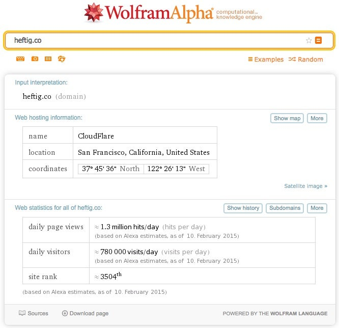 Daten-Websites Preisgestaltung