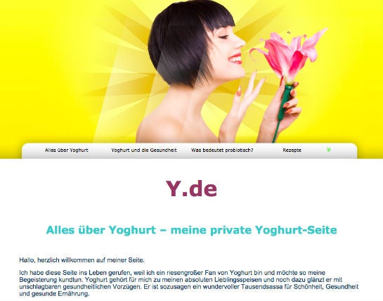 Screenshot: y.de