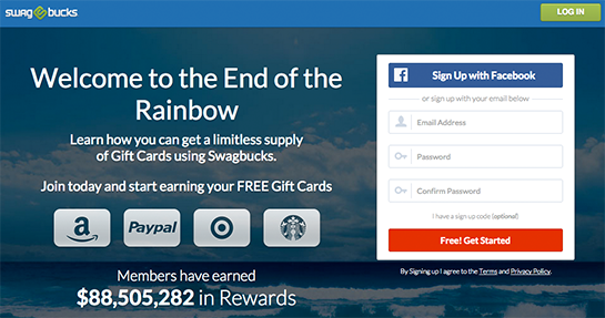 Screenshot von swagbucks</a