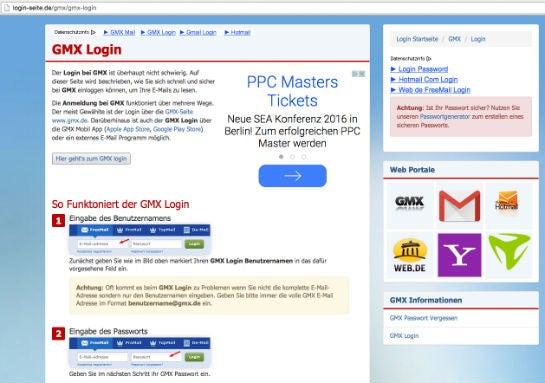 free mail gmx login