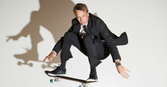 Tony Hawk, Business-Mann auf vier Rollen. (Quelle: Dale May, Forbes.com)