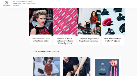 Refinery29 Homepage