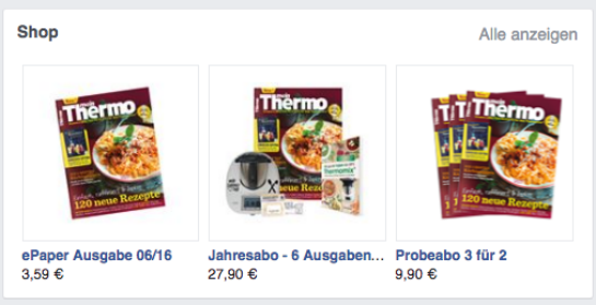 Facebook-Shop Mein Thermo