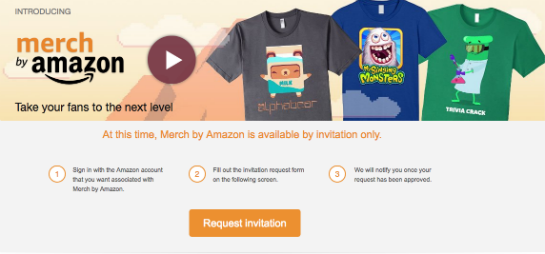 Startseite von Merch by Amazon