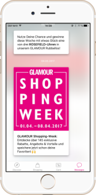 Glamour Shopping Week App Messages