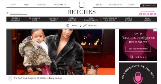 Betches Webseite