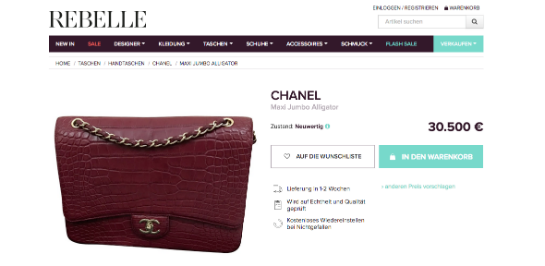 Chanel bei Rebelle