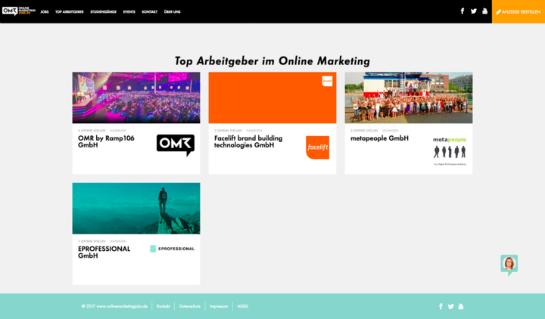 Top Arbeitgeber OnlineMarketingJobs.de