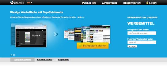 BinLayer Webseite