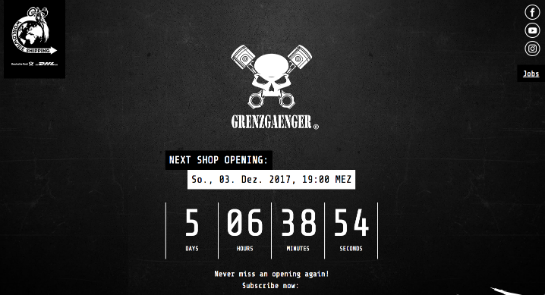 Grenzgaenger-Shop offline