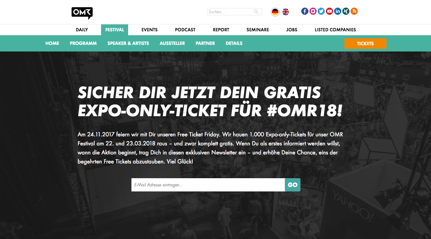 OMR Expo Free Ticket Friday Black Friday