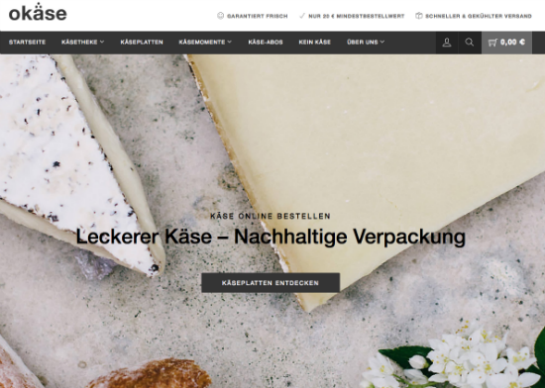 Okäse-Website