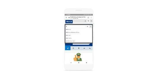 Die Mobilversion von Allianz.de