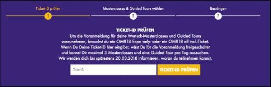 OMR18 Masterclasses