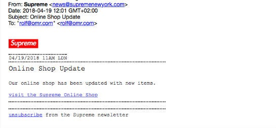 Supreme Newsletter