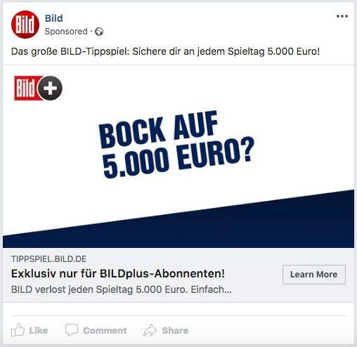 Bild Facebook Anzeigen Ads Plus OMR