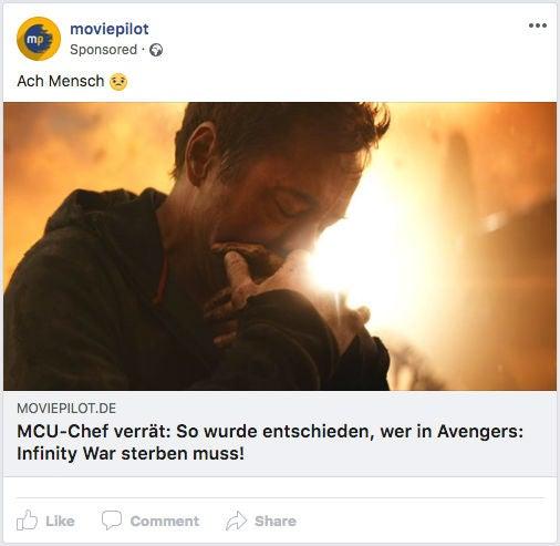 Moviepilot Facebook Ad Werbeanzeige OMR