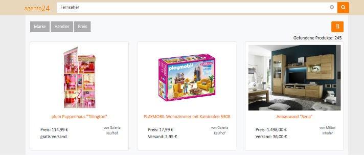 Suchergebnis Google Shopping