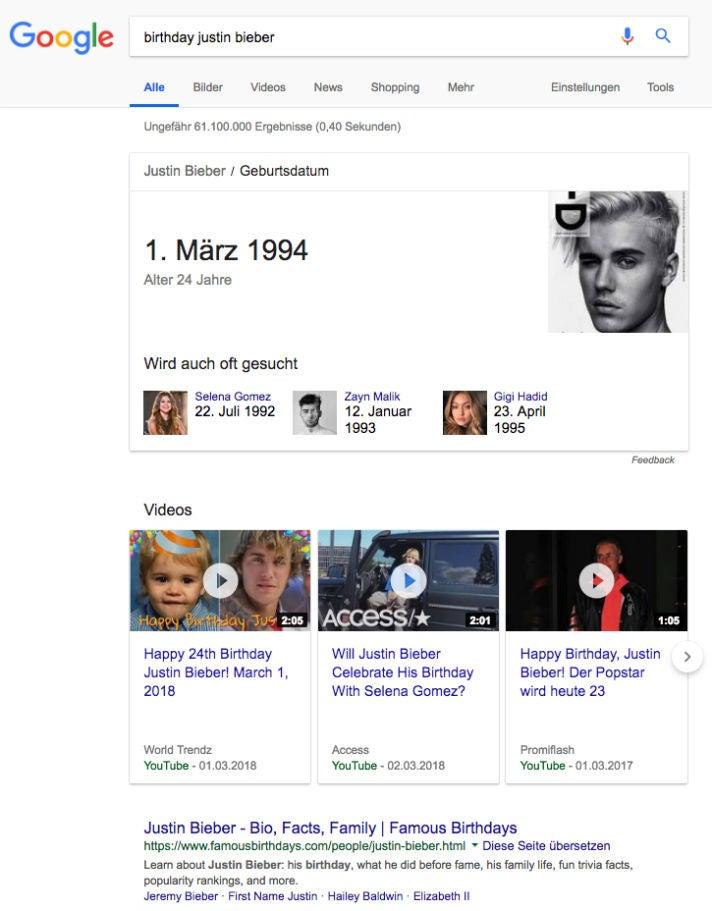 Famousbirthdays Justin Bieber Google Search OMR