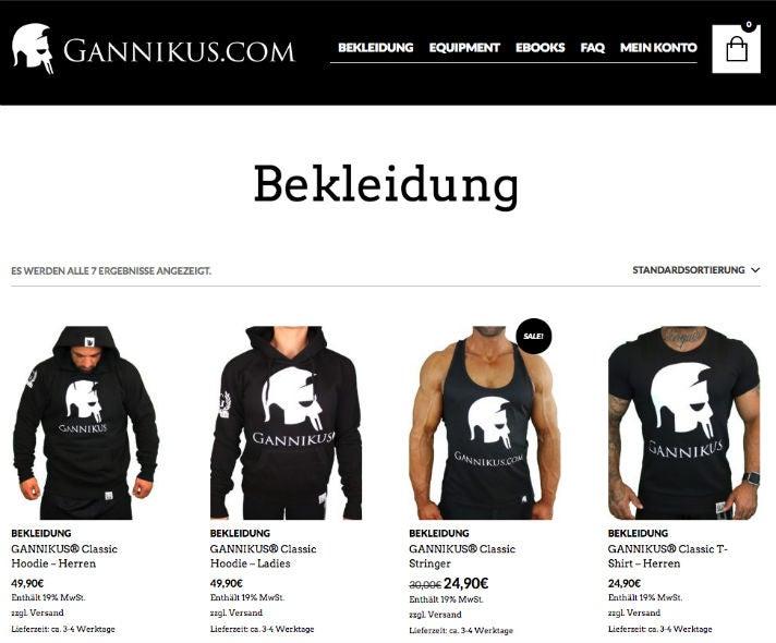 Gannikus Marcel Grasschopp Online Fitness Youtube OMR Shop