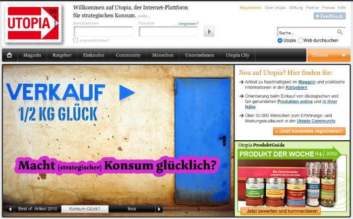 Utopia de Plattform Nachhaltigkeit Meike Gebhard Wayback Machine OMR