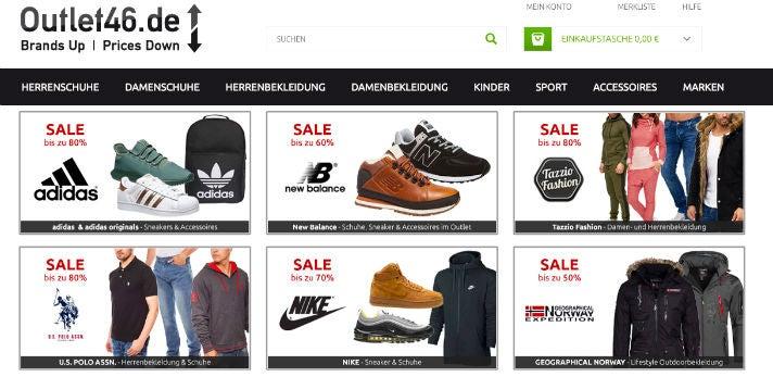 Online-Shop von Outlet46