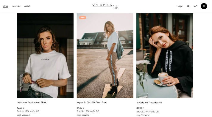 Oh April Online-Shop
