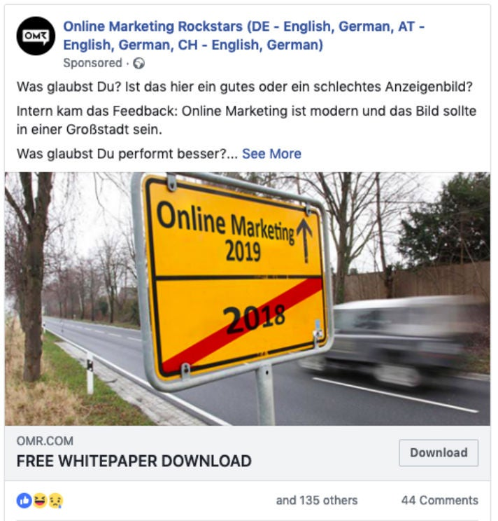 OMR Facebook Long Ads Report Free Download