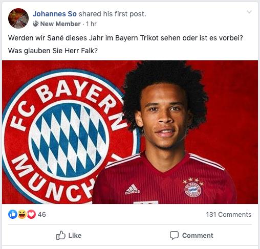 Bild Facebook Sport Gruppen Bayern Insider Interaktion OMR