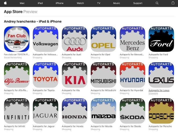 Auto Apps Andrey Ivanchenko Apple App Store OMR