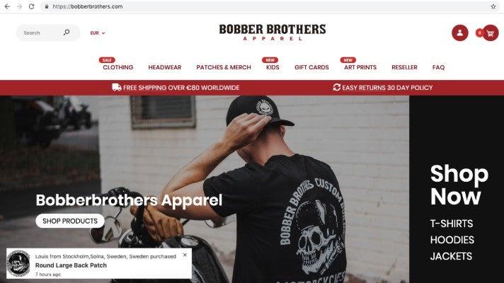 Bobberbrothers Biker Wear Homepage Sascha Bitz