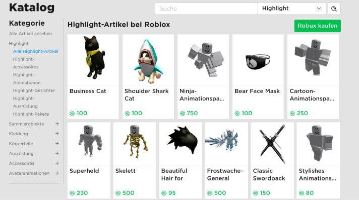 Roblox Katalog
