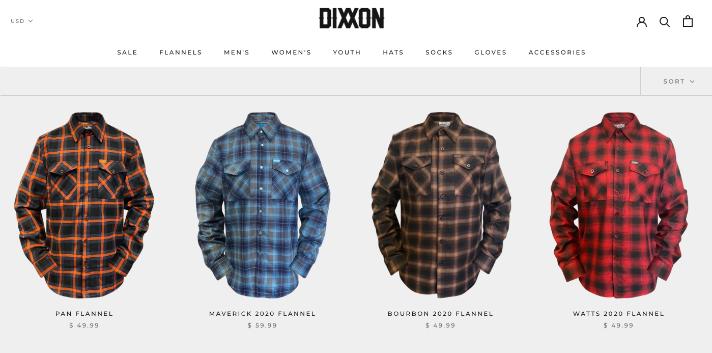Dixxon Flannels Webshop