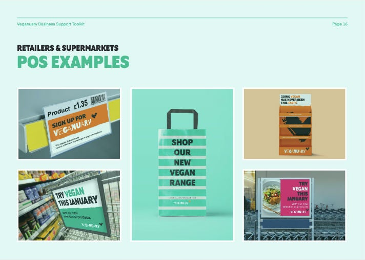 Screenshot Veganuary Business Toolkit