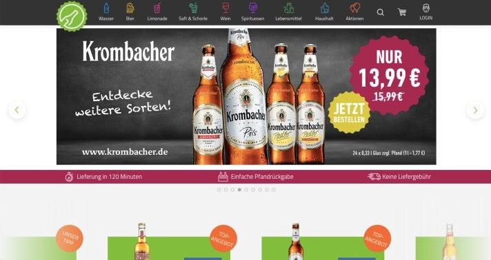 Webseite von Flaschenpost