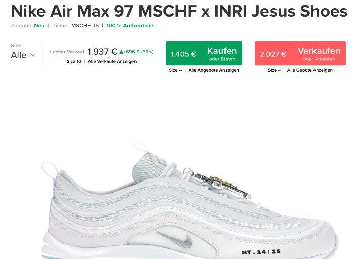 MSCHF-Schuhe auf StockX