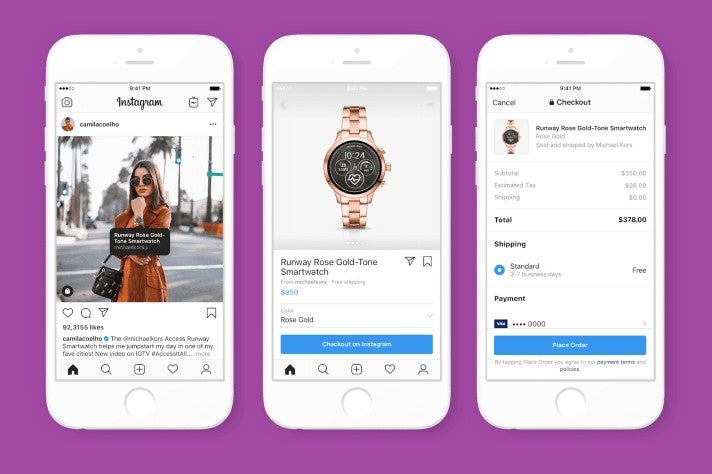 Creator Shopping bei Instagram