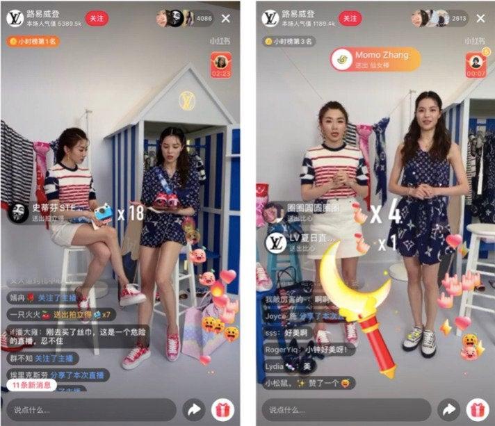 Die Luxusmarke Louis Vuitton wagte im April 2020 ihr Livestreaming-Debüt auf der Social-Shopping-Plattform Little Red Book
