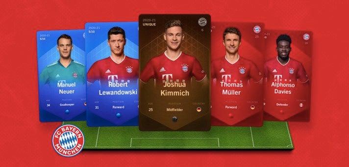 Das Team des FC Bayern München ist seit Anfang November als dritter Bundesligaverein bei Sorare vertreten