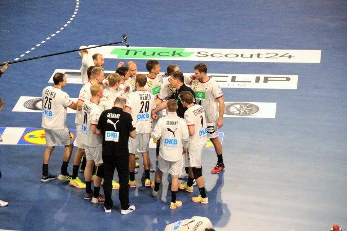 Truckscout24-Werbung bei der Handball-WM 2021