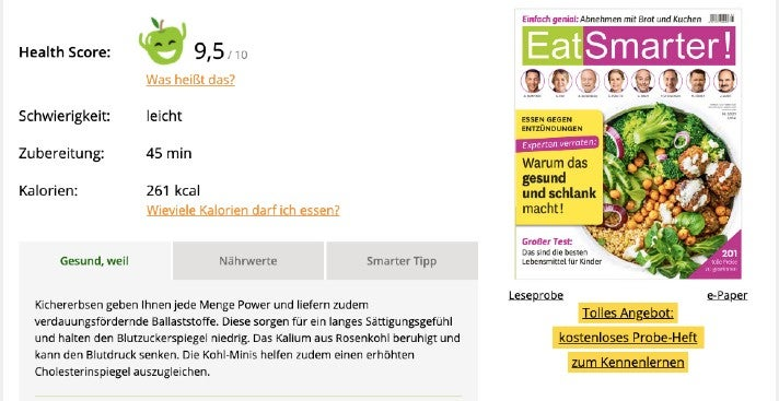 Eatsmarter Health Score