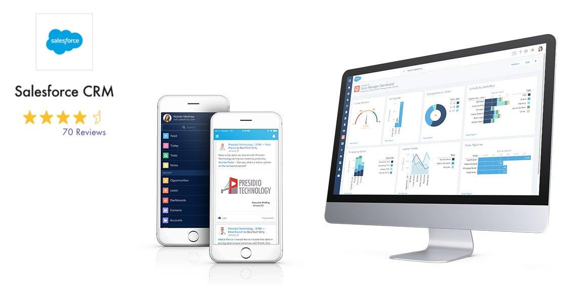 Salesforce CRM mit Bewertung und Screenshot