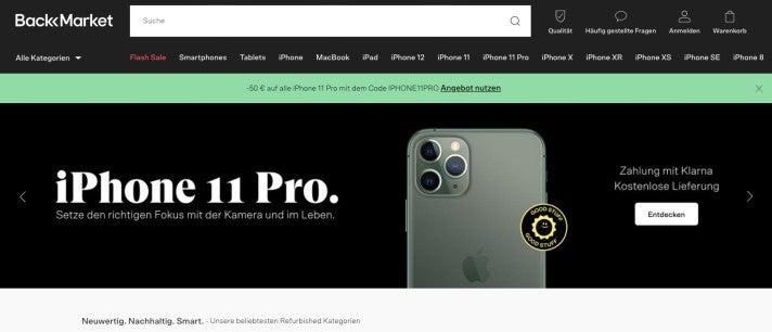 Back Market Webseite