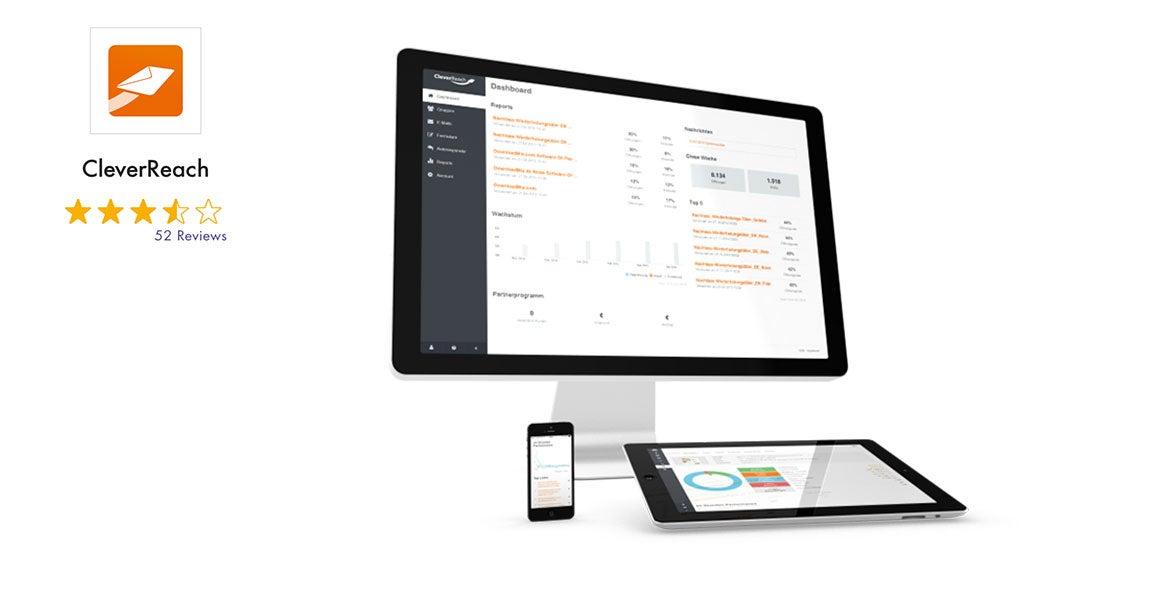 CleverReach Newsletter-Software mit Bewertung und Screenshot