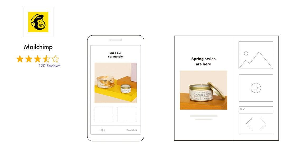 mailchimp Newsletter-Software mit Bewertung und Screenshot