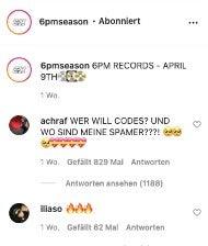 6PM Codes auf Instagram