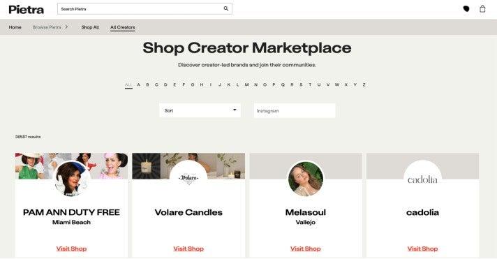 Pietra baut einen eigenen Creator-Marketplace