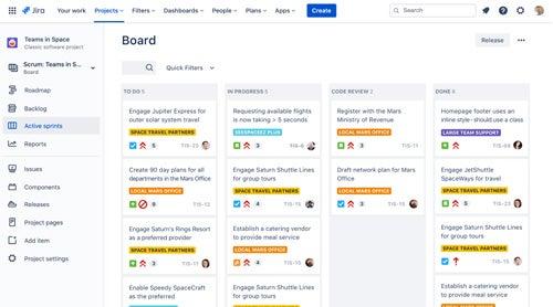 Jira Projektmanagement-Tool Board Screenshot